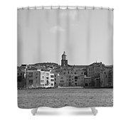 Clocher De Saint - Tropez Vue De La Mer  Shower Curtain