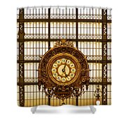 Clock Dorsay Museum Shower Curtain
