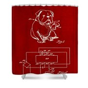Clock For Keeping Animal Time Patent Drawing 1b Shower Curtain