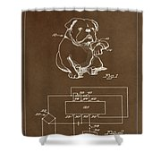 Clock For Keeping Animal Time Patent Drawing 1c Shower Curtain