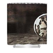 Clock - Id 16218-130649-1306 Shower Curtain