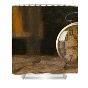 Clock - Id 16218-130706-9555 Shower Curtain