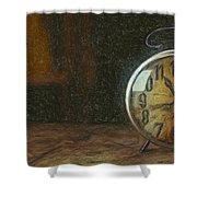Clock - Id 16218-130715-1843 Shower Curtain
