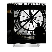 Clock Musee D'orsay Shower Curtain