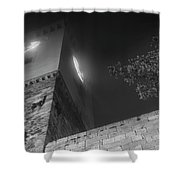 Clock Tower At Night Shower Curtain