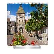 Half-timbered Houses, Alsace, France  Shower Curtain