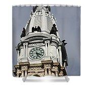 Clock Tower City Hall - Philadelphia Shower Curtain