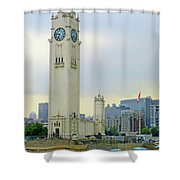 Clock Tower Montreal 1 Shower Curtain