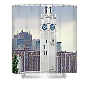 Clock Tower Montreal 2 Shower Curtain