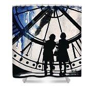 Clock Watching Shower Curtain