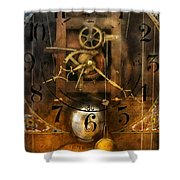 Clockmaker - A Sharp Looking Time Piece Shower Curtain