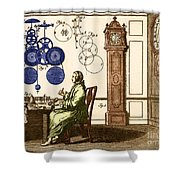 Clockmaker Shower Curtain