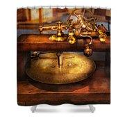 Clocksmith - The Gear Cutting Machine  Shower Curtain