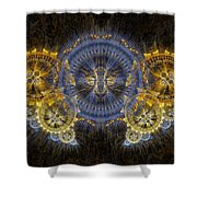 Clockwork Butterfly Shower Curtain