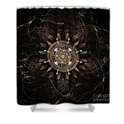 Clockwork Shower Curtain by John Edwards