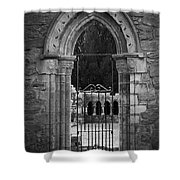 Cloister View Cong Abbey Cong Ireland Shower Curtain