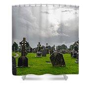 Clonmacnoise Monastery Shower Curtain