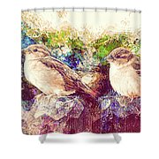 Close Encounters Of The Bird Kind Shower Curtain