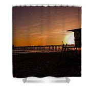 Close Of The Day At Newport Beach Shower Curtain
