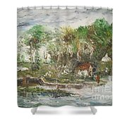 Close To The Retreat Shower Curtain