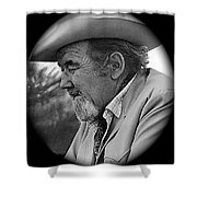 Close-up  Broderick Crawford Ted Degrazias Gallery In The Sun Tucson Arizona 1969-2008 Shower Curtain