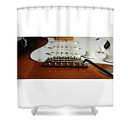 Close Up Electric Guitar Shower Curtain
