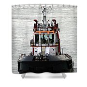 Close Up Of A Tugboat In Venice Harbor Shower Curtain