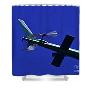 Close Up Of Helicopter Vh Lee Shower Curtain