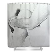 Close Up Of Life Figure. Shower Curtain