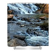 Close Up Of Reedy Falls In South Carolina II Shower Curtain