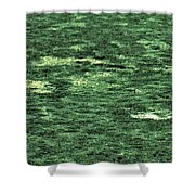 Close-up Of Scum Pong Shower Curtain