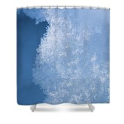 Close Up Of Snow Shower Curtain