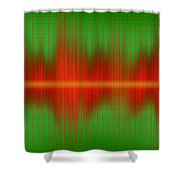 Close-up Of Sound Waves Shower Curtain