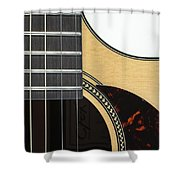 Close-up Of Steel-string Guitar Shower Curtain