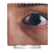 Close-up Of The Eye Of A Man Shower Curtain