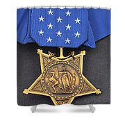 Close-up Of The Medal Of Honor Award Shower Curtain
