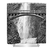 Close Up View Of Multnomah Falls Shower Curtain