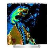 Cosmic Close Up Shower Curtain