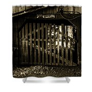 Closed Barn Shower Curtain