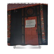 Closed For Earthquake Shower Curtain