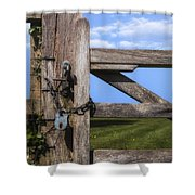 Closed Paddock Shower Curtain