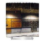 Closed Shop Stall Doors Shower Curtain