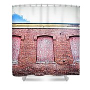 Closed Windows Shower Curtain