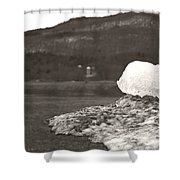 Closer Silo Berg Shower Curtain