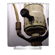 Closeup Lampswitch Shower Curtain