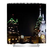 Closeup Of City Hall Philadelphia Shower Curtain