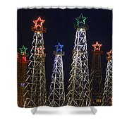 Closeup Of Kilgore Texas Derricks Shower Curtain