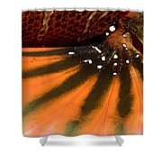 Closeup Of The Colorful Surface Shower Curtain