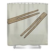 Clothes Pins Shower Curtain