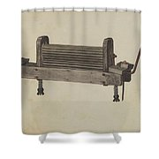 Clothes Wringer Shower Curtain